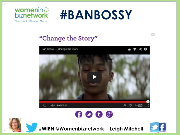 #BanBossy - Why women need to find their voice... in their health care and of course there career