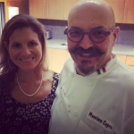 Leigh and Chef Massimo