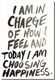 Quote I am in charge of how I feel and today I am choosing happiness