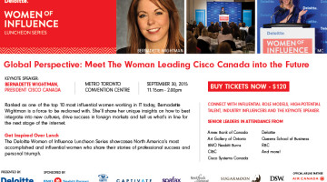 Sept 30th: Meet the Woman Leading Cisco Canada into the Future @womenofinflnce Event