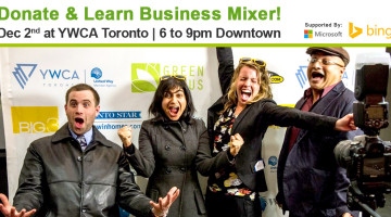 Dec 2: Donate and Learn Mixer for Entrepreneurs: Business Pros! Microsoft Keynote @MSFT4Work_CA