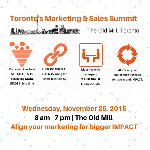 Wednesday, November 25, 20158 am - 7 pmAlign your marketing for bigger IMPACT