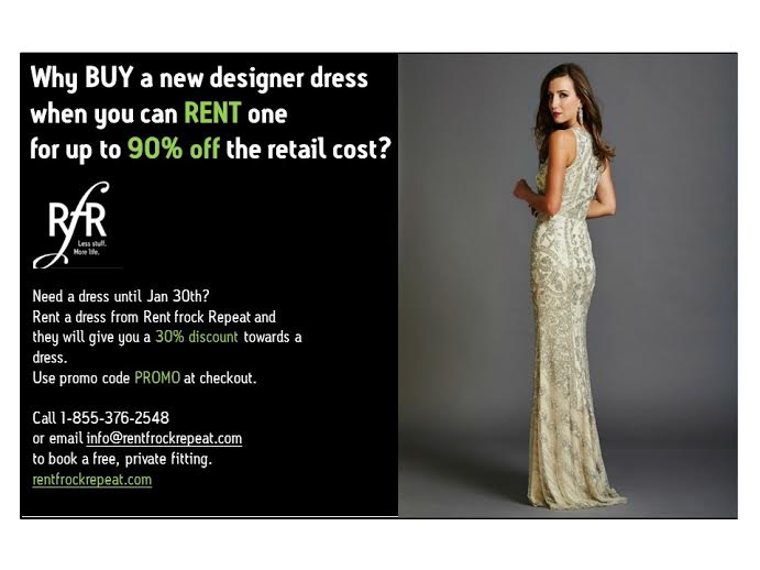 Women in Business Members Save 20% with Rent Frock Repeat