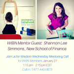 Wisdom Wednesday Mentoring call for WIBN Members