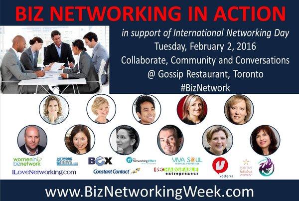 Biz Networking in Action Event Toronto Feb 2, 2016 In Toronto