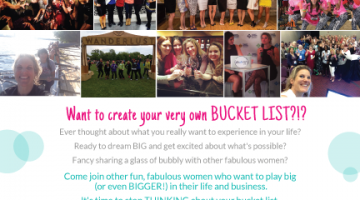Bubbles and Bucket Lists with @WomenlivingBig Event | June 2 | #WIBNmembers save