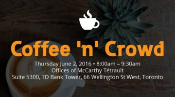 Coffee 'n' Crowd Toronto Event on June 2nd via @frontfundr