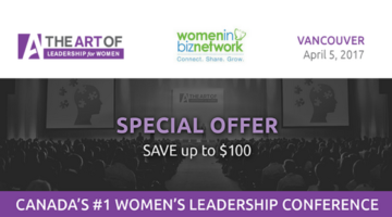 The Art of Leadership for Women in Vancouver on April 5th, 2017 via @theartof