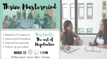 March 23: Thrive Mastermind –  The Art of #Negotiation