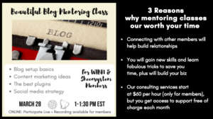 March 28th – Online Class: Beautiful Blog – The secrets to a productive and professional presence