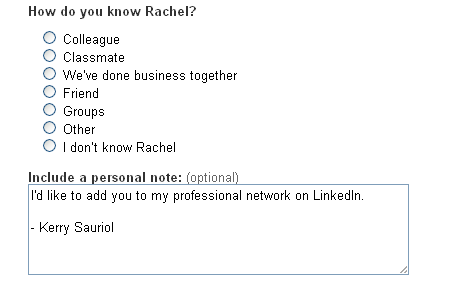 Invite Rachel to Connect   LinkedIn