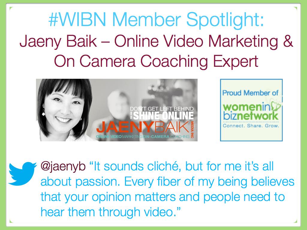 Jaeny Baik – Online Video Marketing & On Camera Coaching Expert