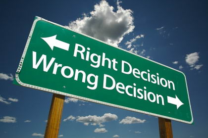 How to make the right business decisions, getting over your fear of making the right decisions