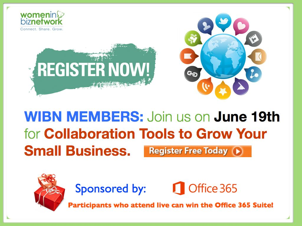 Join us for Webinar Wednesday's Collaboration Tools to Grow Your Small Business on June 19th