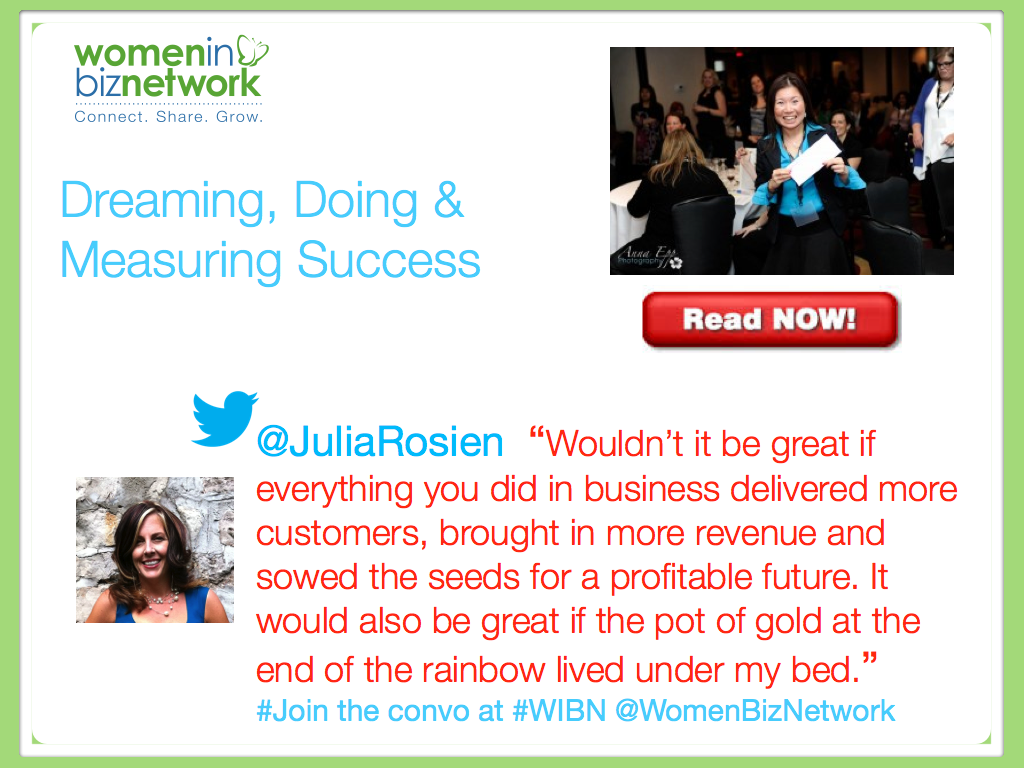 Dreaming, Doing & Measuring Success