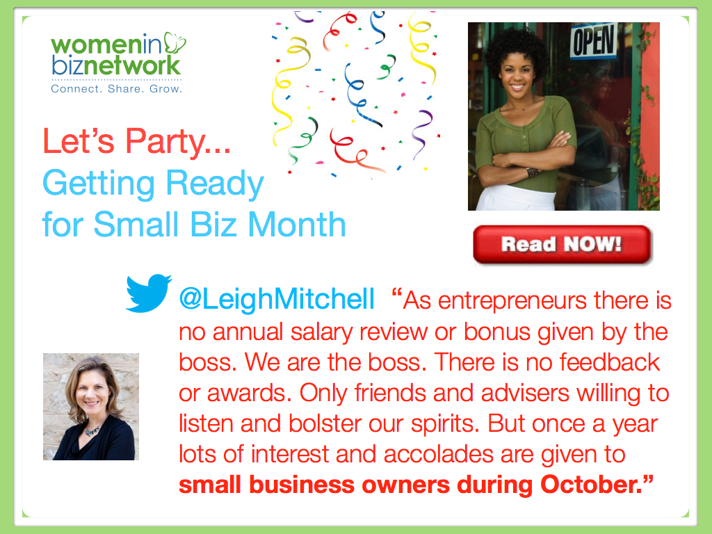 October is Small Business Month- Small Biz Events in Canada 2013