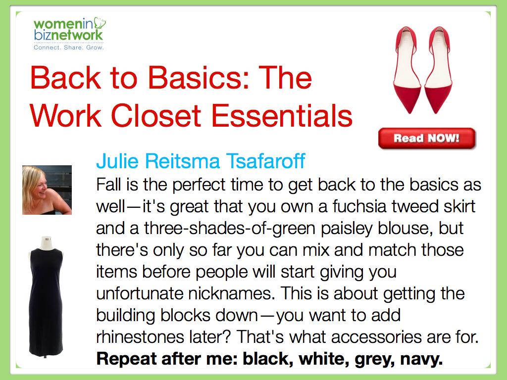 Back to Basics: The Work Closet Essentials
