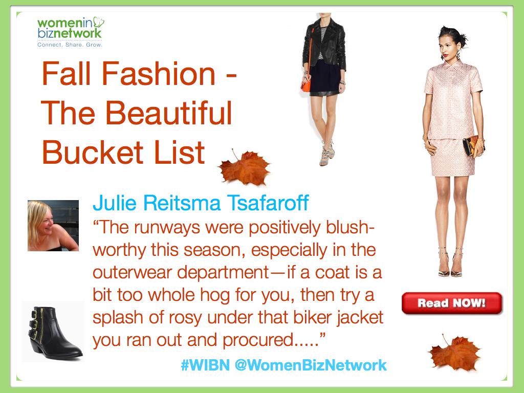 2013 Fall Fashion Trends – The Beautiful Bucket List