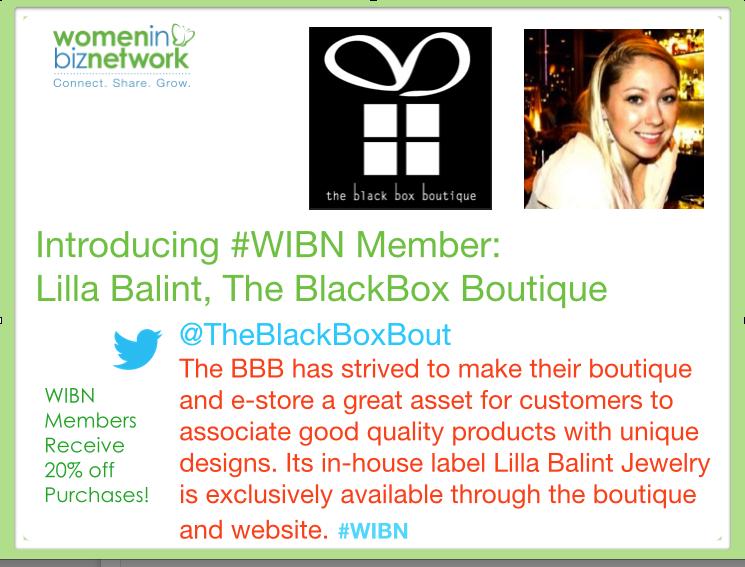 #WIBN Member Spotlight – Meet Lilla Balint from The Black Box Boutique @theblackboxbout