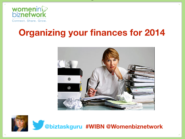 Organizing your finances for 2014
