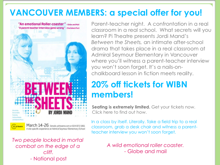 Between The Sheets – WIBN Ticket Discount Offer