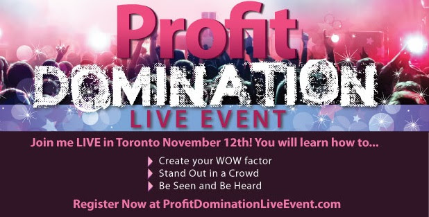 The Profit Domination Live Event – #WIBN Members $10.00 off!