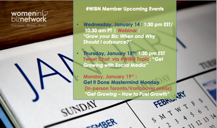 #WIBN Upcoming Events for Members of Canadian Women in Business Association Network