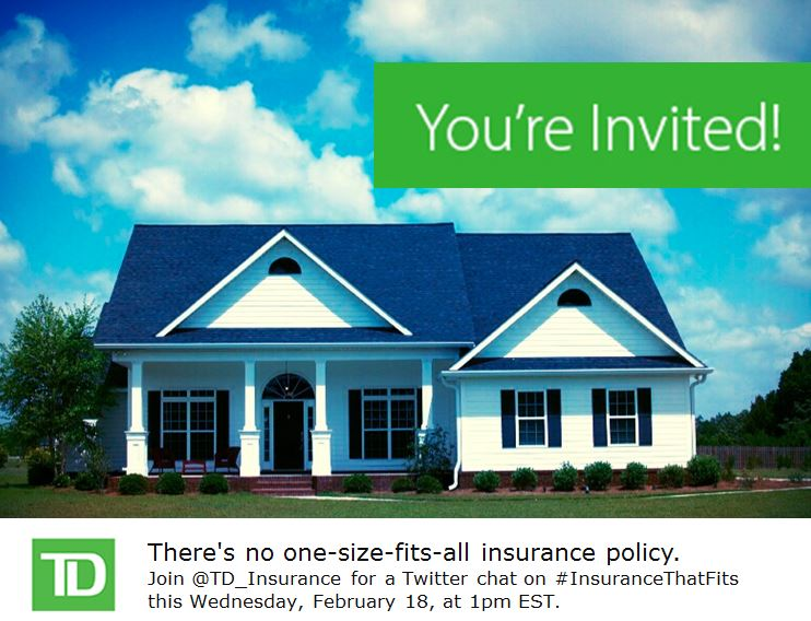 Join @Td_Insurance for #InsuranceThatFits Chat Wednesday at 1pm EST!