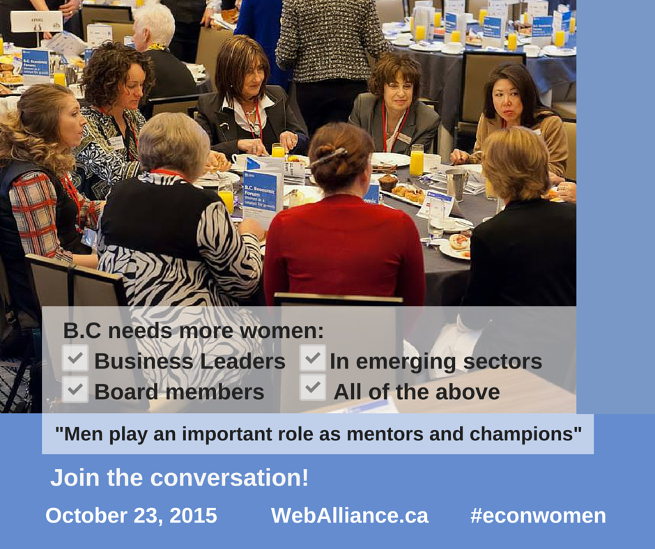 #Econwomen B.C. Economic Forum: Women as a catalyst for growth Presented by @DeloitteCanada Oct23rd #YVR
