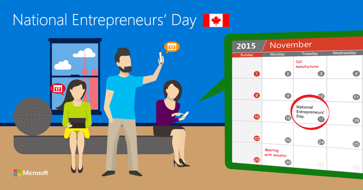 Pledge your support for National Entrepreneurs' Day in Canada and help spread the message w @msft4work_ca @SageNAmerica