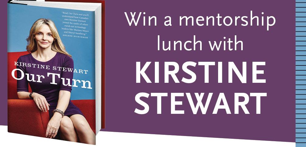 Win a Mentorship Lunch with @kirstinestewart #OurTurn via @RandomHouseCA