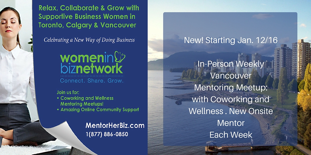Vancouver: Weekly Coworking and Wellness Mentoring Meetup starting January 12