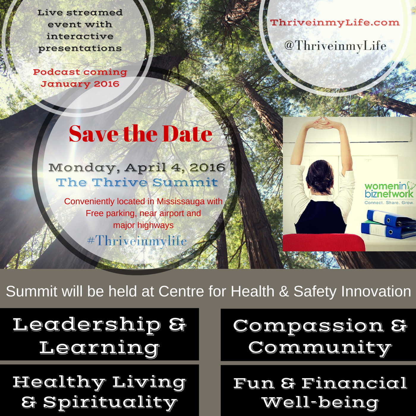 Mark your Calendars! The Thrive Summit is coming April 4th #ThriveinmyLife