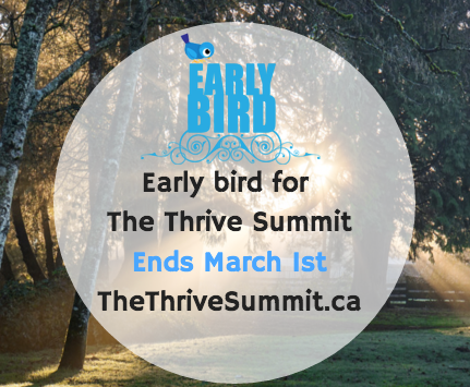 Early bird Special for the #WIBN Conference @TheThriveSummit ends March 1st!