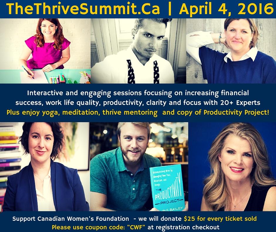 #WIBN Thrive Conference April 4 | $25 per tix goes to @cdnwomenfdn #Thriveinmylife