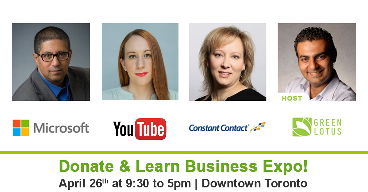 @GreenLotus_CA Donate and Learn Expo! Meet Google and @msft_businessCA  Speakers |