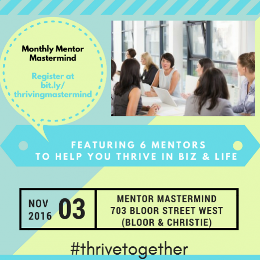 Reserve your spot at the #WIBN Mastermind in Toronto at @Shecosystem on November 3