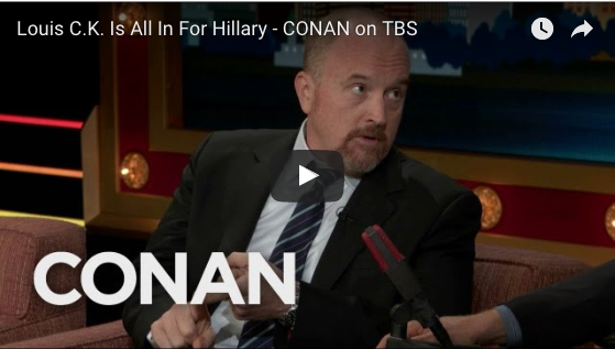 Louis CK all in for Hilary – We Need a Mom President #Imwithher