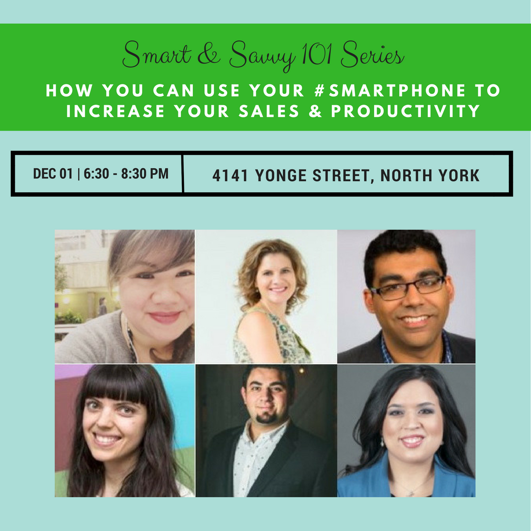 How to use your smart phone for productivity + sales Dec 1