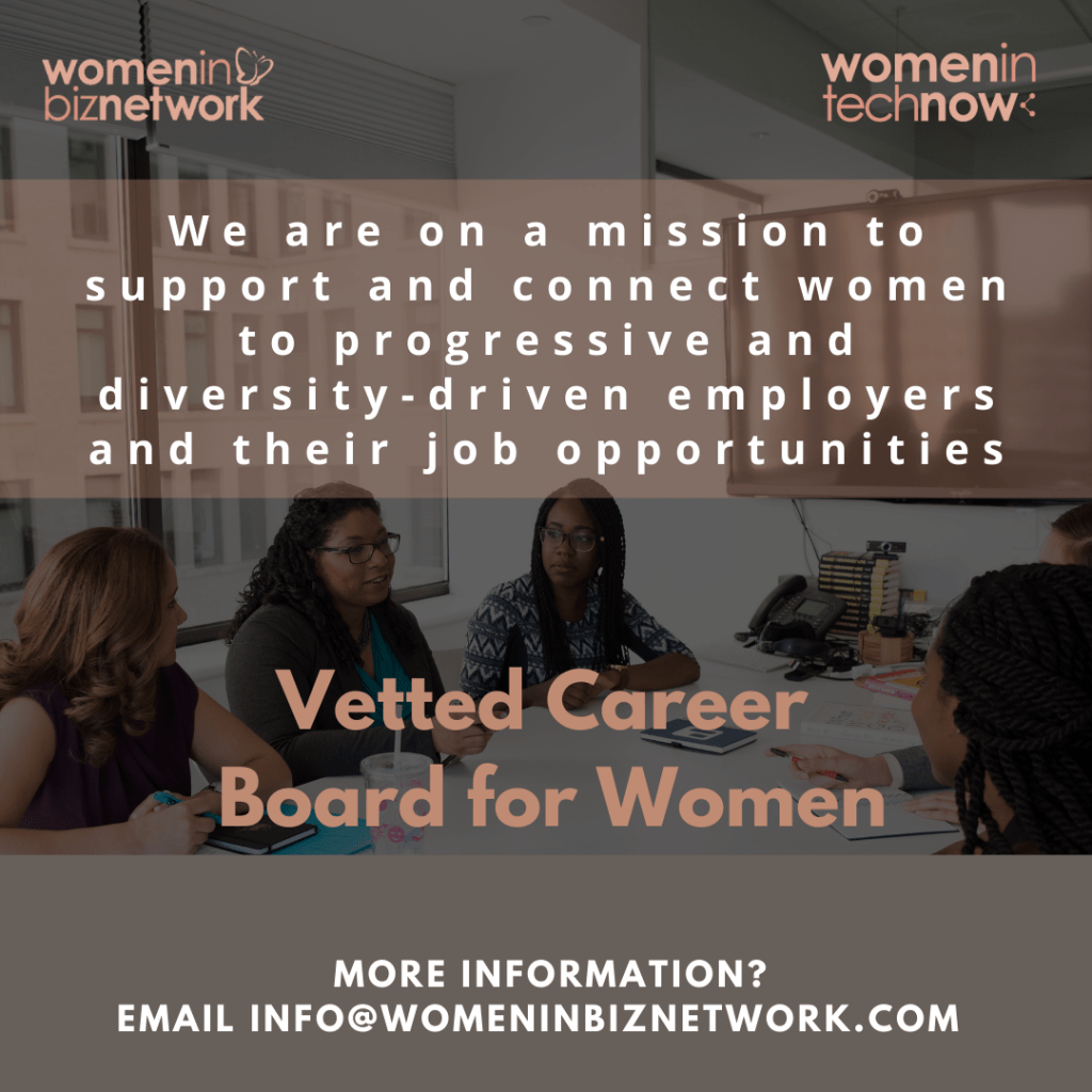 Women in Biz Network Vetted Career:Job Board for Women