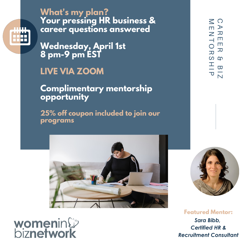 Online Event (April 1st): What's my plan? Your pressing HR business & career questions answered