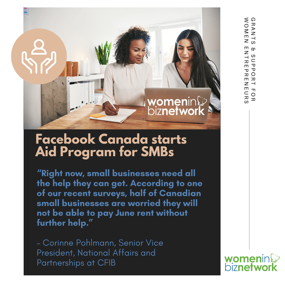 Facebook Canada starts Aid Program for SMBs