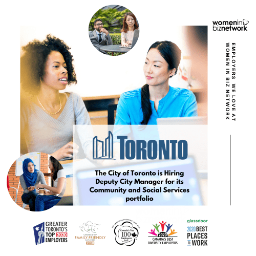 City of Toronto is Hiring Deputy City Manager for its Community and Social Services portfolio