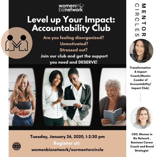 Women in Biz Network Level Up Your Impact Accountability Club