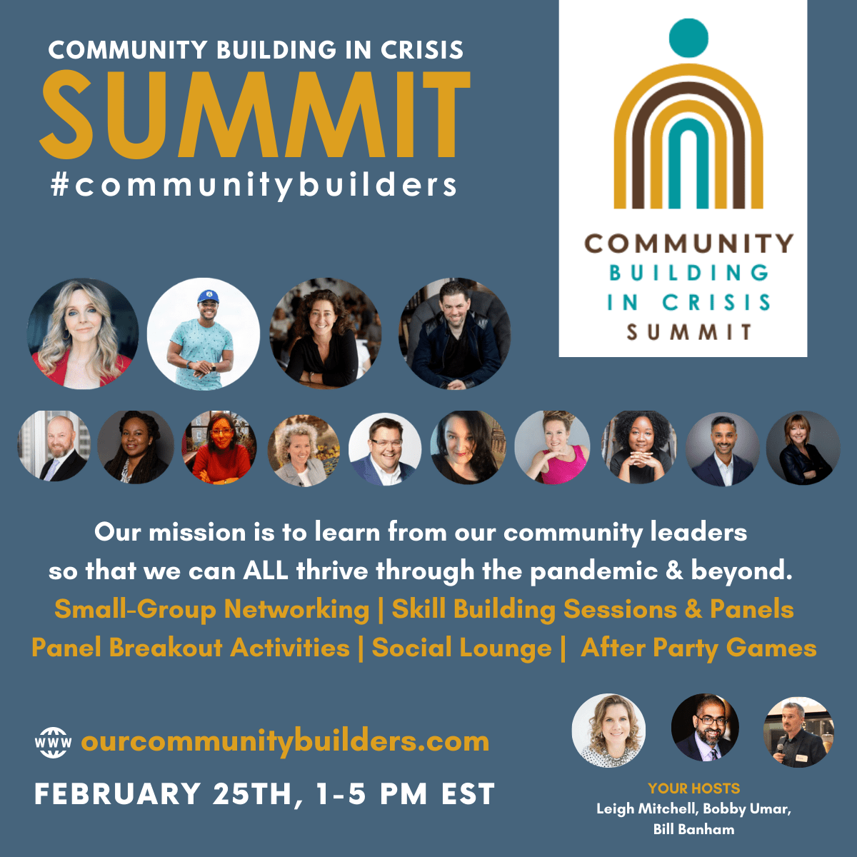 Register now for Community Building in Crisis Complimentary Summit (Feb.25) #communitybuilders