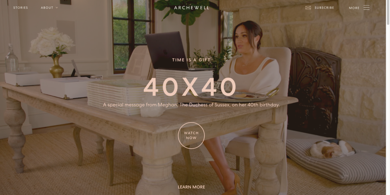 Support and share Duchess of Sussex Meghan Markle's #40×40 Project